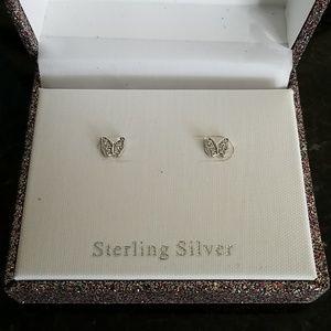 Sterling butterfly studs